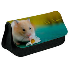Personalised NAME Hamster Printed Pencil Case for Stationery/Cosmetic - 1