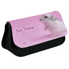 Personalised NAME Hamster Printed Pencil Case for Stationery/Cosmetic - 0