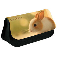 Personalised NAME Bunny Print Pencil Case Makeup Bag for Stationery/Cosmetic - 3