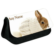 Personalised NAME Bunny Print Pencil Case Makeup Bag for Stationery/Cosmetic - 5