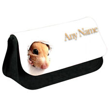 Personalised NAME Hamster Printed Pencil Case for Stationery/Cosmetic - 2