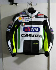 GP PRO VR 46 MOTOGP MOTORBIKE RACING LEATHER JACKET MEN'S ALL SIZES AVAILABLE