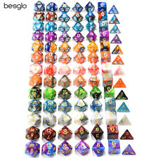 Polyhedral Acrylic DnD Mixed Color Dice RPG 7pcs/Set 26 Styles