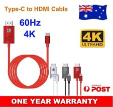 USB Type-C to HDMI Adapter 4K Cable For Samsung Galaxy S20+ 5G Netflix to TV AU