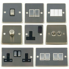 G&H Brushed Steel Light Switches & Dimmers & Sockets
