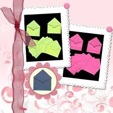 SCRAPBOOKING PUNCH 10 MINI ENVELOPPES TONS CHAUDS