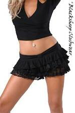 2093 SEXY NEW CLUBWEAR WOMENS LAYERED LACY MINI SKIRT WITH BUILT IN HOT PANTS