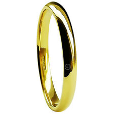 2mm 18ct Yellow Gold Wedding Rings Court Comfort HM 750 Medium 2.1g Solid Bands