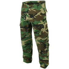 ACU RIPSTOP ARMY COMBAT MENS TROUSERS CARGO MILITARY PANTS WOODLAND CAMO : S-XXL