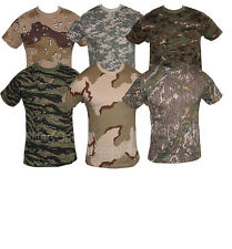 MILITARY CAMOUFLAGE CAMO DIGITAL T SHIRT  XS - XXXL ARMY COMBAT TOP 100% COTTON