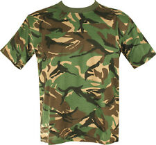 Military Army T Shirt BRITISH Woodland CAMO DPM SAS PAR