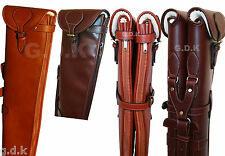 CHOICE OF,GUARDIAN DARK BROWN, TANNED, LEATHER SHOTGUN SLIPS, SINGLE AND DOUBLE