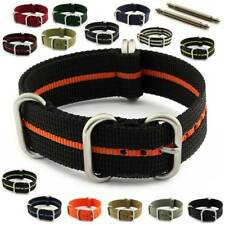 Nato Zulustrong Military Watch Strap Band Heavy Duty Nylon Brushed Hardware