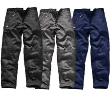 x2 Pairs Dickies WD814 Redhawk Action Workwear Zipped Trousers BLACK NAVY GREY