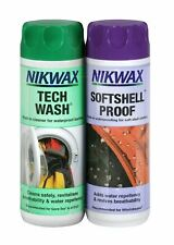 Nikwax Tech Wash & Softshell Proof Twin Pack Cleaning Waterproof Protection