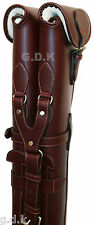 "CHOICE OF 3, DOUBLE LEATHER SHOTGUN SLIPS, GUARDIAN LEATHER,FOR 28-32"" BARRELS"