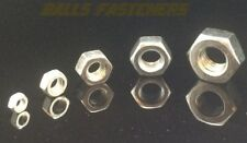M2 M2.5 M3 M4 M5 M6 M8 M10 M12 Nuts - Hexagon Full Nut - A2 Stainless Steel