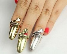 Vintage Snake Finger Nail Ring Punk Costume Jewellery Claw Gold Silver Bronze