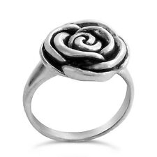 925 Sterling Silver Valentine's Day Rose Flower Ring #Azaggi R0383S