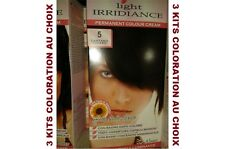 Lot de 3 Kits Coloration Permanente cheveux LIGHT IRRIDIANCE Effet Antioxydant