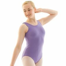 Ladies RAD Uniform Tank Ballet Leotard Cotton Lycra Sleeveless Dance Gear CWEN