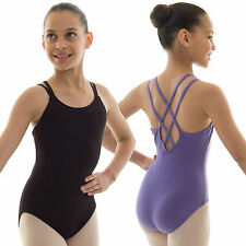 Capezio Double Strap Camisole Ballet Dance Leotard Cotton Girls Children's CC123