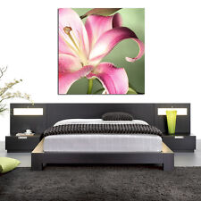 pink lily flower floral close up PHOTO WALL ART PICTURE CANVAS PRINT DECOR