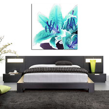 teal lily flower floral close up PHOTO WALL ART PICTURE CANVAS PRINT DECOR