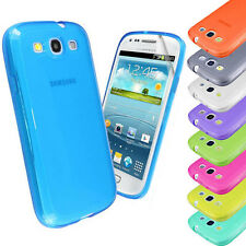 Transparent Soft Silicone Gel Case Cover FOR Samsung Galaxy S3 i9300+Screen Film