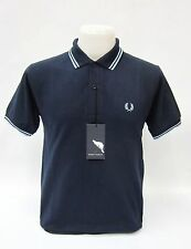 Fred Perry Piquee Polo Shirt Dunkelblau #5088