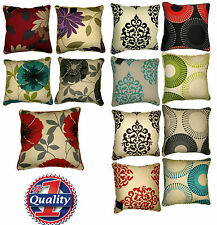 "Luxury Super Quality Panama Floral Design CUSHION COVERS - 18"" x 18"" Size"