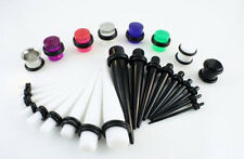 23 Pc Ear Taper+ PLUG Kit 14G-00G 1.6mm-10mm Gauges Expander Set Stretchers
