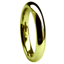 4mm 18ct Yellow Gold Wedding Rings Court Comfort Fit X Heavy Bands UK HM H-Z