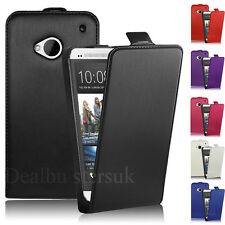 NEW Slim Flip Leather Case Cover For HTC One M7 With Screen Protector