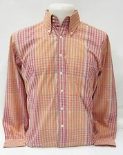 Ben Sherman Langarmhemd kariert Rot / Orange #5095