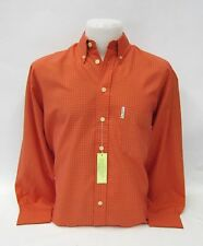 Ben Sherman Langarmhemd kariert Orange / Rot #5214