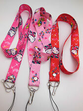 HELLO KITTY Neck Lanyard Strap Cord for  mp3, keys, mobile phone,ID card, Camera