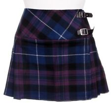 Ladies Pride of Scotland Tartan Scottish Micro Mini Billie Pleated Kilt W26-42in