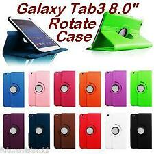 Samsung Galaxy Tab3 8.0 Inch Rotate Case Rotating Cover T310,T311,P8200 Tab 3 8""