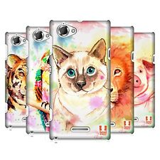 HEAD CASE DESIGNS WATERCOLOURED ANIMALS CASE COVER FOR SONY XPERIA L C2105