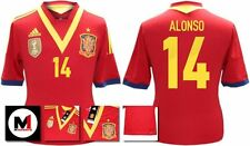 *13 / 14 - ADIDAS ; SPAIN HOME SHIRT SS / ALONSO 14 = SIZE*
