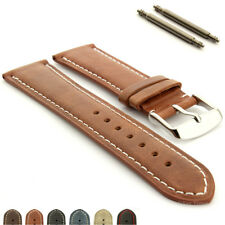 Men's Genuine Leather Watch Strap Band Twister with Ss. Buckle Spring Bars