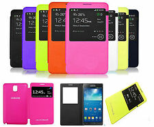 Samsung Galaxy Note 3 N9000 N9005 Smart S View Window Flip Battery Cover Case UK