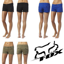 FOX RACING WOMENS GIRL'S UNDERCOVER SHORTS MILITARY KHAKI BLACK BLUE pockets NEW