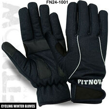 Winter Cycling Full Fingers Gloves MTB Windproof Palm Protection Glove M, L, XL