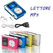 Mini Lettore MP3 LCD Screen Player Clip USB Supporta 8GB MicroSD SDHC TF FITNESS