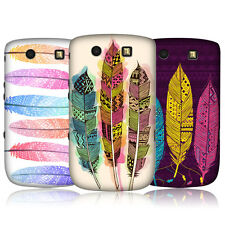 HEAD CASE AZTEC FEATHERS SNAP-ON BACK CASE COVER FOR BLACKBERRY TORCH 9800 9810