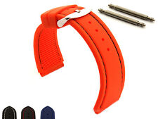 Notched Corners Silicone Rubber Watch Strap Band Waterproof ASTRO 18 20 22 24mm