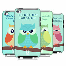 HEAD CASE DESIGNS MEAN OWLS CASE COVER FOR APPLE iPOD TOUCH 4G 4TH GEN