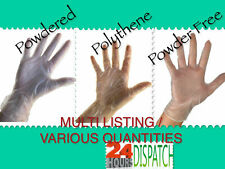 **CHEAP** Disposable LATEX FREE Gloves, Powder Free, Powdered or Polythene